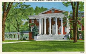 VA - Hollins College. Charles L. Cooke Memorial Library