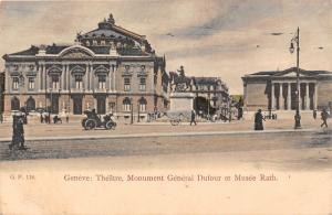 Switzerland Geneve Theatre Monument General Dufour et Musee Rath Statue