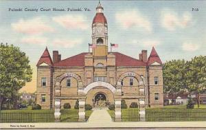 Pulaski County Court House, Pulaski, Virginia, 30-40s
