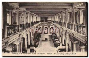 Postcard Old National Bank Credit Nice View of & # 39A of the Hall