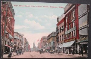 Main Street South From Center St Brockton MA Union News Co 10941 Unposted