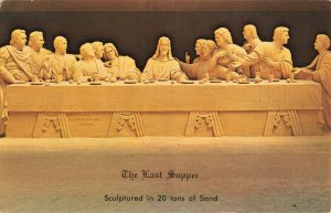 Postcard The Last Supper Sculptured in 20 Tons of Sand