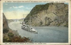 Panama Canal Radio Boat Naval Ship Omaha Culebra Cut Cover TRANSITO PANAMA