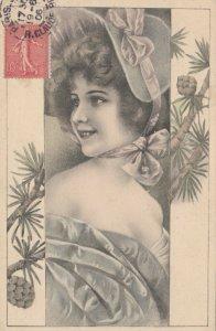 M.M.VIENNE : Female Head Portrait #2, 1906