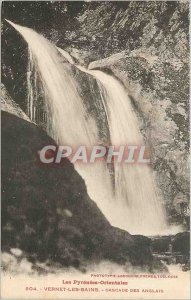 Old Postcard Eastern Pyrenees Vernet les Bains English cascade