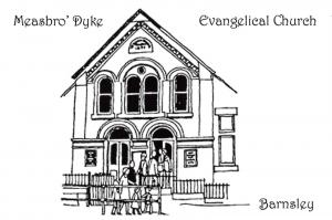 Art Sketch Postcard, Measbro' Dyke Evangelical Church, Barnsley, Yorkshire X97