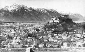 Salzburg Gesamtansicht Schloss Bruecke Bridge River General view