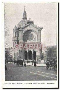 Old Postcard Collection petit Journal Paris Church of Saint Augustine