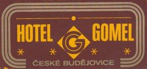 Czechoslovakia Ceske Budejovice Hotel Gomel Vintage Luggage Label lbl0869