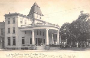 Petoskey Michigan~Italianate Cushman House Hotrl~Big Portico c1906 Rotograph