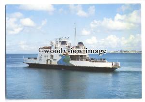 FE1351 - Brasilian Ferry - Rio Paraguacu , built 1984 - postcard