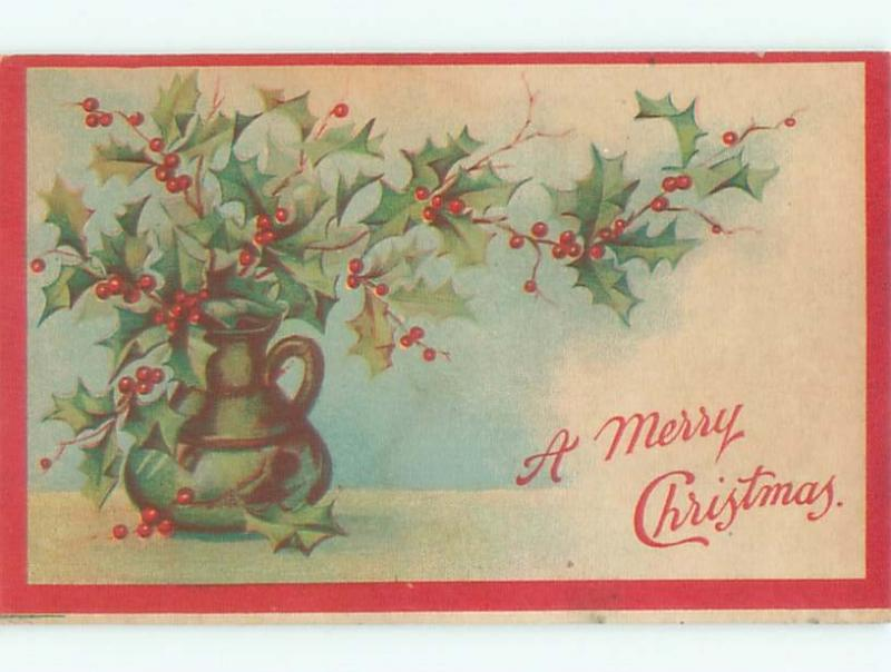 Divided-Back CHRISTMAS SCENE Great Postcard W8598