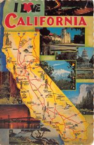 B73299 California map cartes geographiques USA