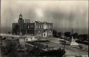 Unidentified Lighthouse - Palestine Written on Back c1910 Real Photo Postcard