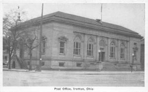 Ohio Postcard IRONTON Lawrence County c1920 POST OFFICE Building