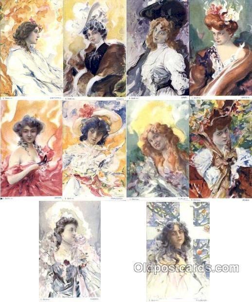 Artist Jan Dedina, (Poland) 10 card set Unused Very close to a mint condition...