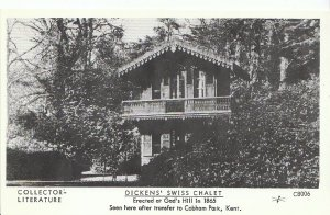 Literature Postcard- Dicken's Swiss Chalet - Erected at Gad's Hill in 1865 -2349
