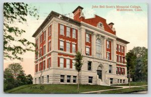 Middletown Connecticut~John Bell Scott's Memorial College~Open Widow~1909