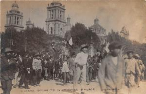 E47/ Mexico Foreign Postcard c1910 RPPC Mexican Revolution Madero to Palace