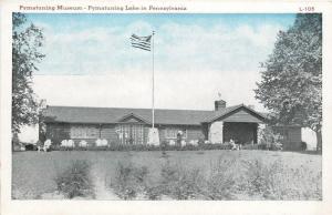 Pymatuning Lake Pennsylvania~Flag Flies @ Museum~1920s Postcard