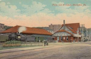 SHAMOKIN , Pennsylvania, PU-1915; Railroad Depot, Train on tracks