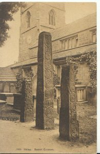 Yorkshire Postcard - Ilkley - Saxon Crosses - Ref TZ551