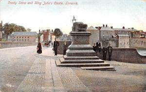 Limerick Ireland Treaty Stone and King John's Castle Limerick Treaty Stone an...