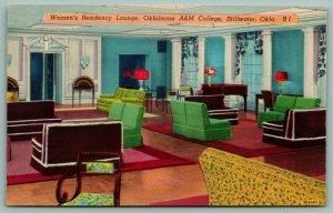Stillwater OK~Oklahoma A&M College~Women's Residency Lounge~1950s Shini-Color PC