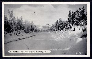 Awinter Scne on Alaska Highway,British Columbia,Canada