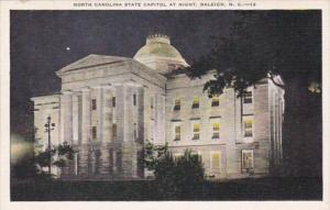 North Carolina Raleigh State Capitol At Night