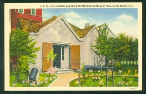 Old Powder Magazine Revolutionary War Charleston South Carolina Cannons Postcard