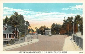 LPS51 Woolwich Maine State of Maine Carlton Bridge Toll House Vintage Postcard