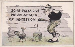 Humour Man Painting Fence Some Folks Give Me An Attack Of Indigestion 1914