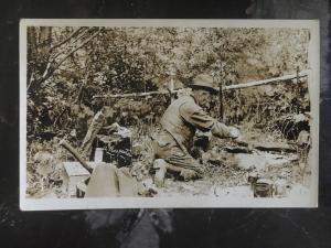 Mint Canada RPPC Postcard Miner Prospector in the Wild Canada