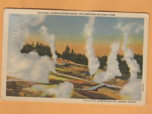 Norris Geyser Basin Postcard Yellowstone National Park Wyoming