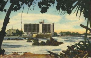 Caribe Hilton Hotel San Juan Puerto Rico Porto Rico Vintage Linen Postcard E5