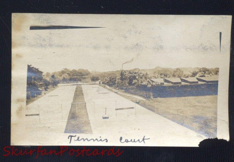 MANILA PHILIPPINES PHILIPPINE ISLANDS TENNIS COURT WWI ERA REAL PHOTO PHOTOGRAPH