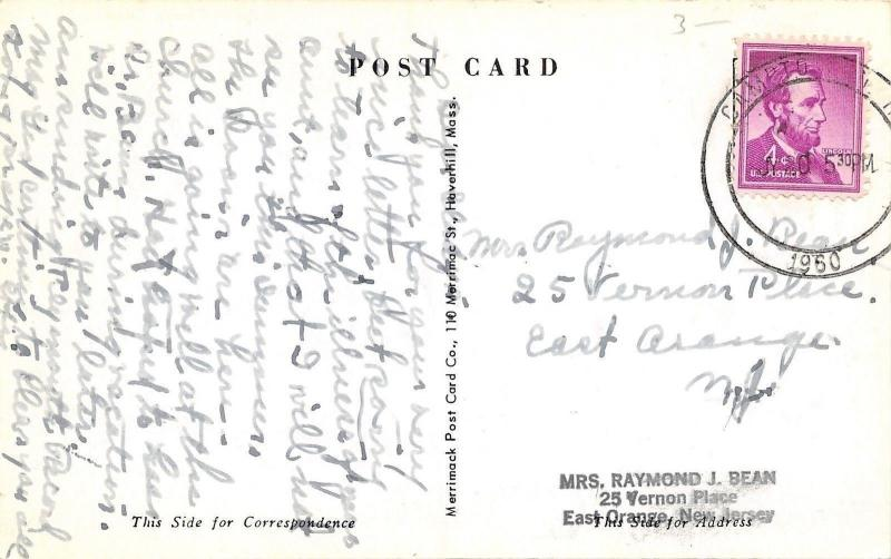Campton New Hampshire~Baptist Church and Parsonage? 1960 B&W Postcard