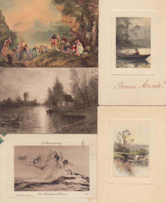 NATURE FOLKLORE ART GRAVURE 157 Cartes Postales 1900-1940