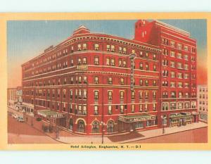Unused Linen ARLINGTON HOTEL Binghamton New York NY u8192
