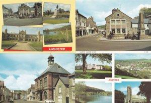 Lampeter Midland Bank War Memorial High Street 4x Postcard s