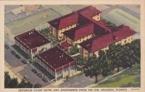 Florida Orlando Jefferson Court Hotel And Apartments From The Air