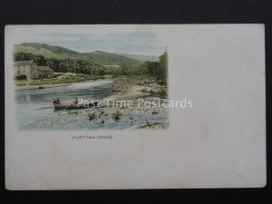Scotland: Pitlochry PORT-NA-CRAIG showing Ferry Crossing c1902 UB Old Postcard