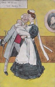 Birth Nurse Delivering Baby How To Kiss A Baby 1908