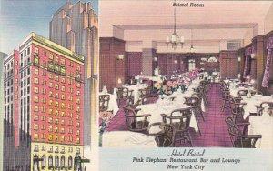 Hotel Bristol Pink Elephant Restaurant Bar and Lounge New York City