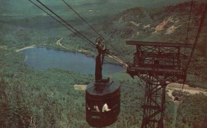 Franconia Notch, NH, Cannon Mountain Aerial Tramway, 1951 Vintage Postcard g8503