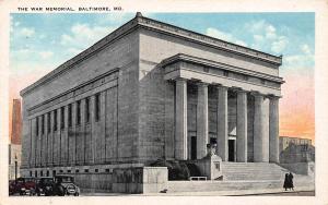 War Memorial, Baltimore, Maryland, Early Postcard, Unused
