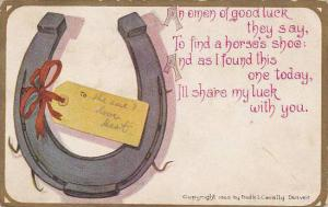 Fred Cavally Deluxe Series Omen of good luck Horseshoe 1910