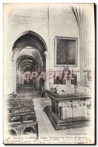 Postcard Old Abbey Sauvigny Old Tombs of the Princes of Bourbon