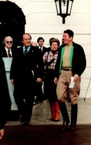 President Ronald Reagan Returning From Horseback Riding At Quantico Virginia ...